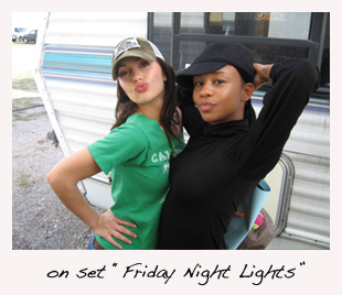 on set Friday Night Lights